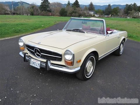 1969 mercedes benz 280sl pagoda roadster for sale youtube for Mercedes benz watch for sale