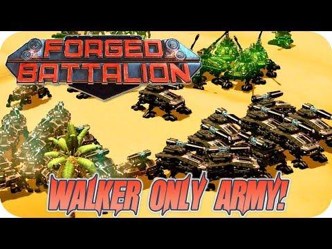 Forged Battalion Multiplayer Gameplay 2v2v2v2 The Deadly Walker Plasma Army