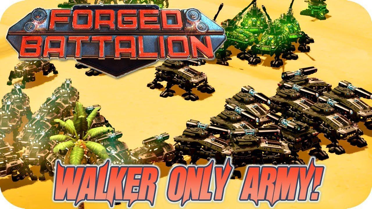 Download Forged Battalion Multiplayer Gameplay 2v2v2v2 The Deadly Walker Plasma Army