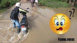 travel holiday in cambodia 2018 ( ជិះម៉ូតូដើររកកន្លែងស្ទូចត្រី ) Vlog # 79