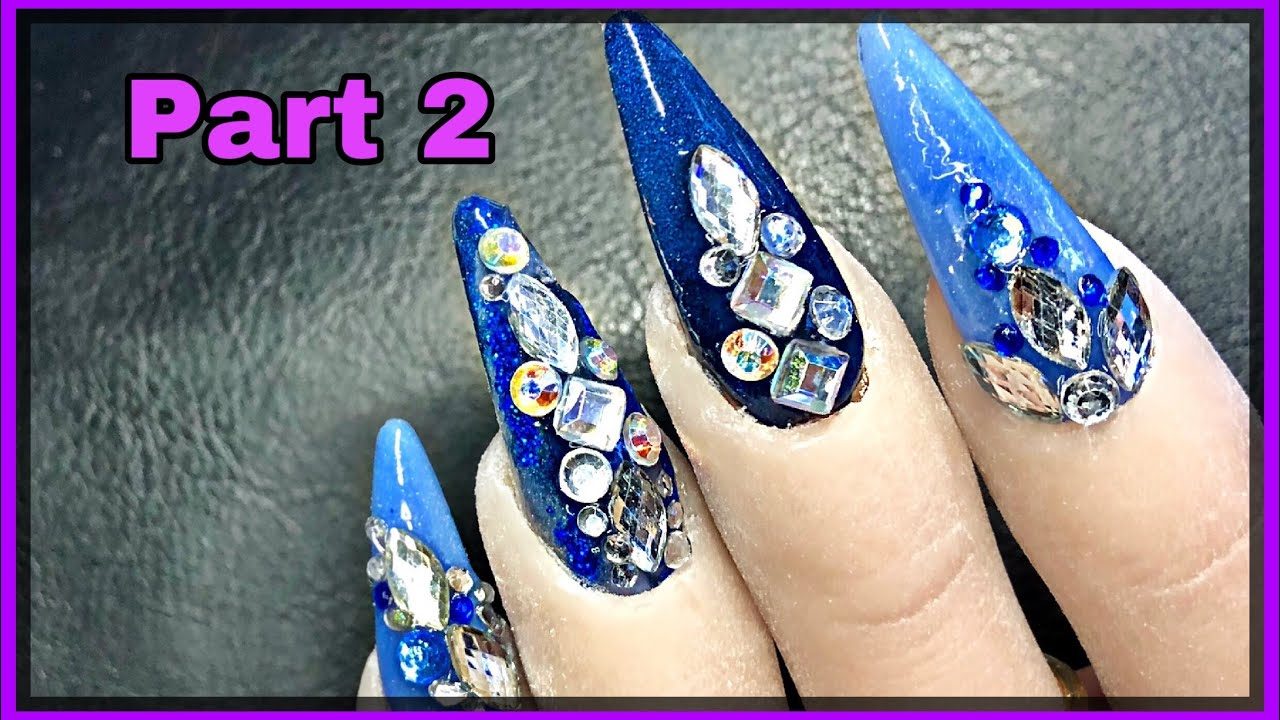 f2a4923d73ca Stone Application - Acrylic Nails - Part 2 - YouTube