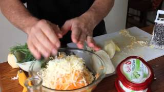 Winter Root Vegetable Cole Slaw With Cucumber-dill Dressing