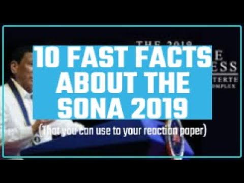10 REACTION PAPER FAST FACTS ABOUT PHILIPPINES SONA 2019