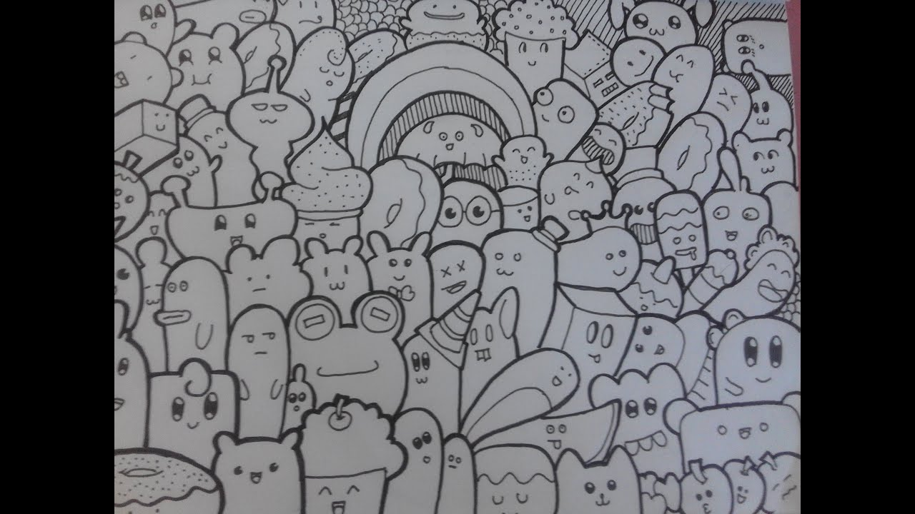 doodle caracter doodle full page youtube