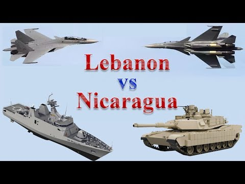Lebanon vs Nicaragua Military Comparison 2017