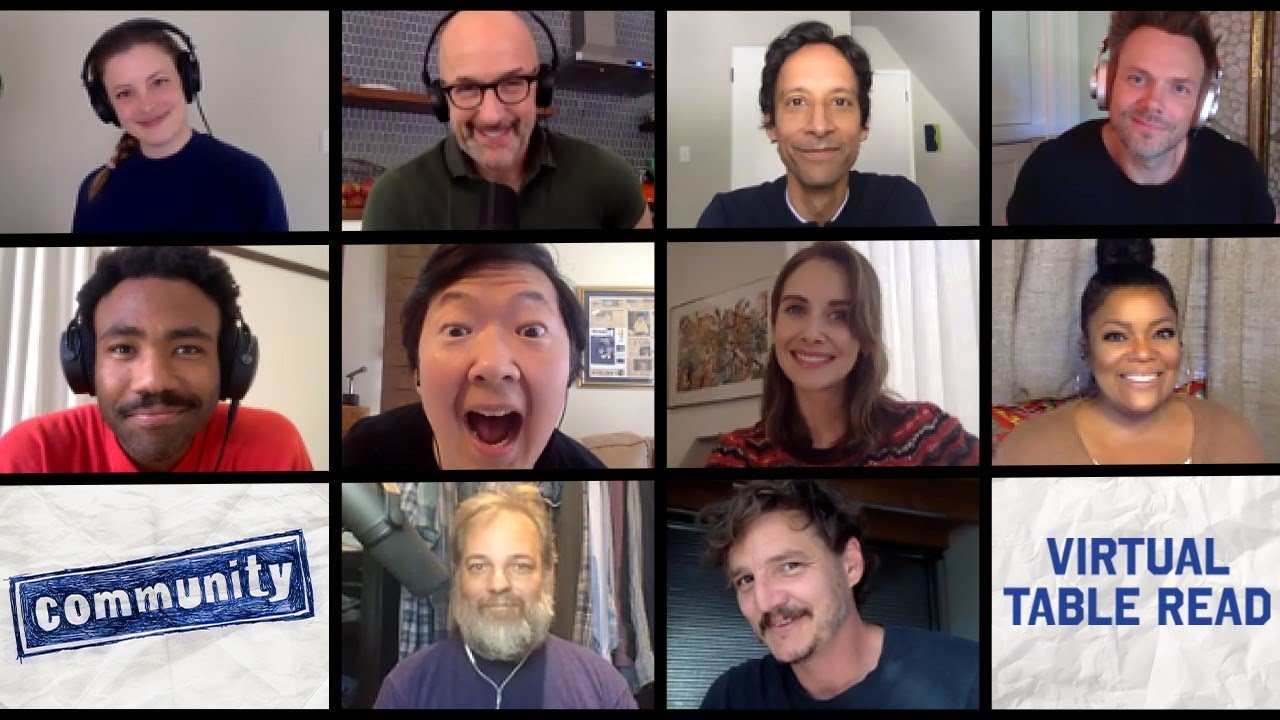 Download The Cast of Community Reunites for Table Read #stayhome #withme