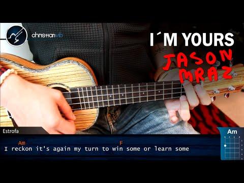 Como tocar I'm Yours en UKULELE Jason Mraz | Tutorial Completo Acordes Intro