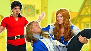 BEAUTY AND THE BEAST BELLE AND PRINCE ADAM DEFEAT GASTON After Belle Saves Beast Totally TV
