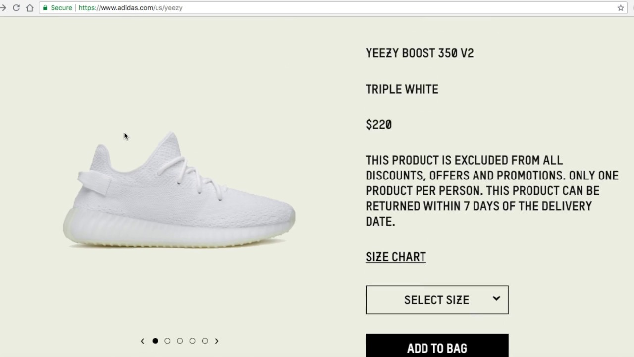 7a00ab5f673 Yeezy Boost 350 V2 Cream Triple White Resell Is Dead + No Copping! 9 21 18