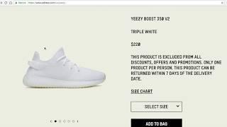 Yeezy Boost 350 V2 Cream Triple White
