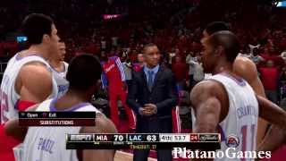NBA Live 14 PS4 - NBA Finals 2014 - Miami Heat vs Los Angeles Clippers - Final Minute - HD
