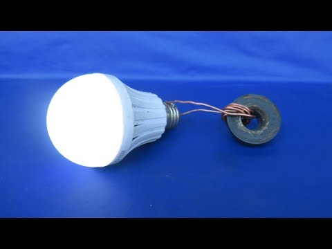 Free energy generator with light bulbs very easy - free energy 100% thumbnail