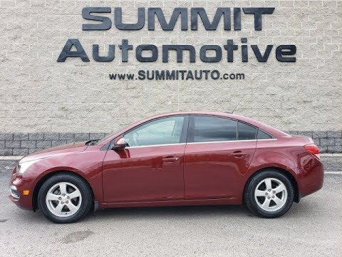 2016 CHEVROLET CRUZE LT SIREN RED STICK SHIFT WALK AROUND REVIEW SOLD! 10248A  Www.SUMMITAUTO.com