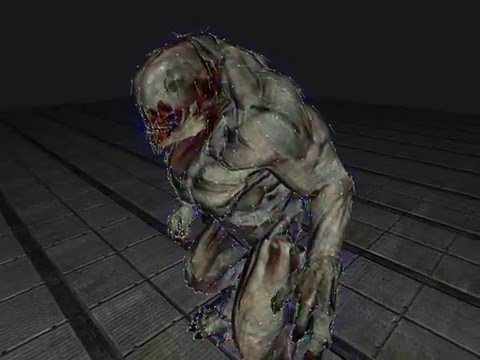 DOOM 3 MD5 model and animation rendering in C++ and OpenGL