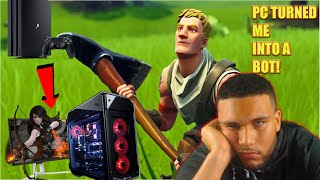 PC fortnite turned me into a bot | switching from console to pc | fortnite funny gameplay!