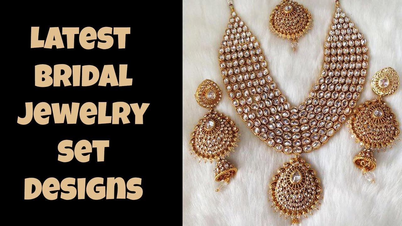 Latest Bridal Jewelry Set Designs - YouTube
