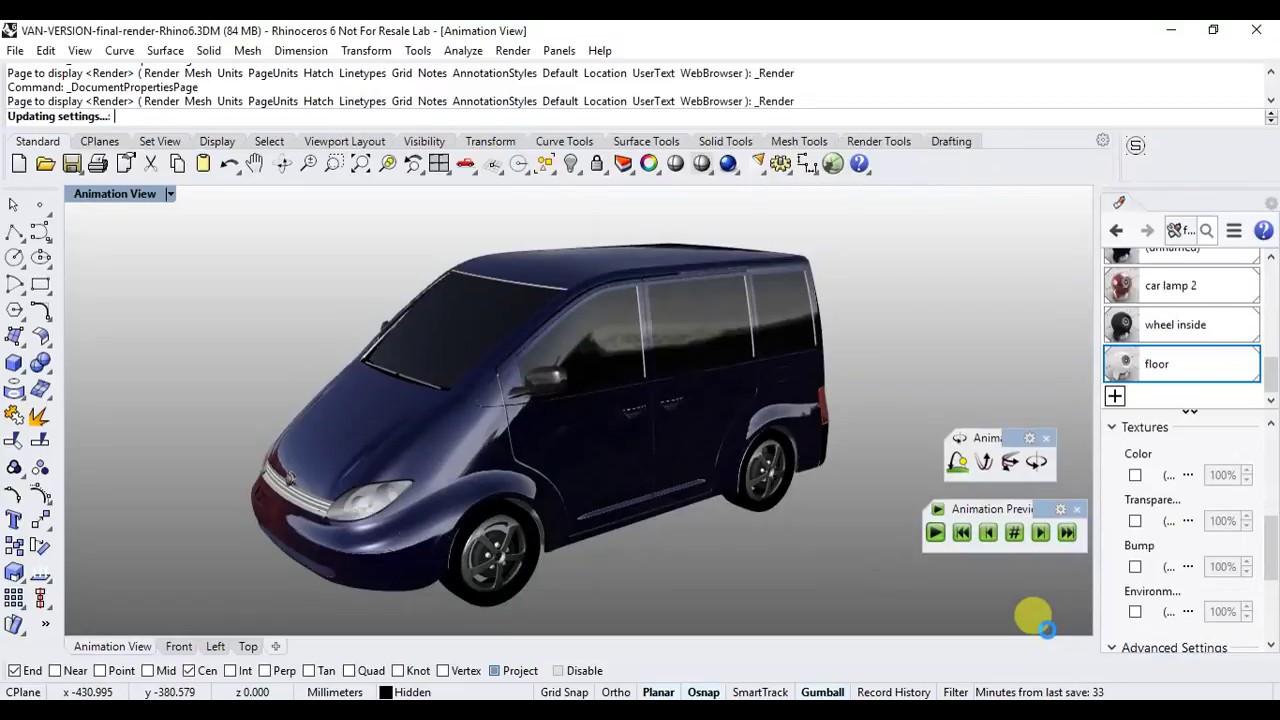 Rhino 6 Tutorial - Realtime animation and presentation