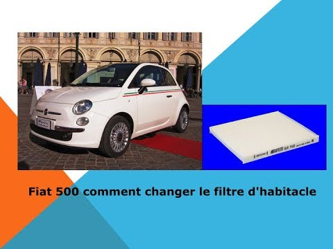fiat 500 comment changer le filtre d 39 habitacle youtube. Black Bedroom Furniture Sets. Home Design Ideas