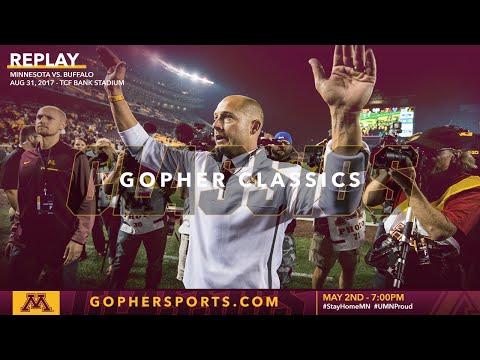 Watch Live: Gopher Football Wins P.J. Fleck's Minnesota Debut Over Buffalo (Gopher Classics)