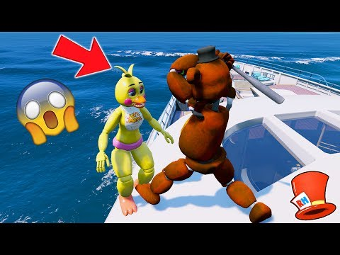 Thumbnail: WITHERED FREDDY HITS CHICA OFF THE BOAT! (GTA 5 Mods For Kids FNAF Funny Moments)