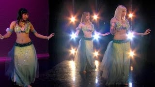 """Secret Gift""- Spiritual Mystery Belly Dance - Neon, Angelys, Jenna Rey"