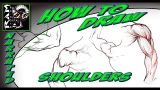 How to Draw - Shoulder Muscles - Anatomy Study Video - Tutorial (Narrated)
