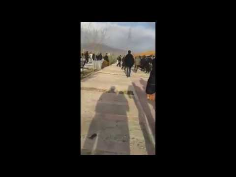 Security Forces Attacking Iranians Mourning The Deaths Of Those Killed During The Recent Uprising