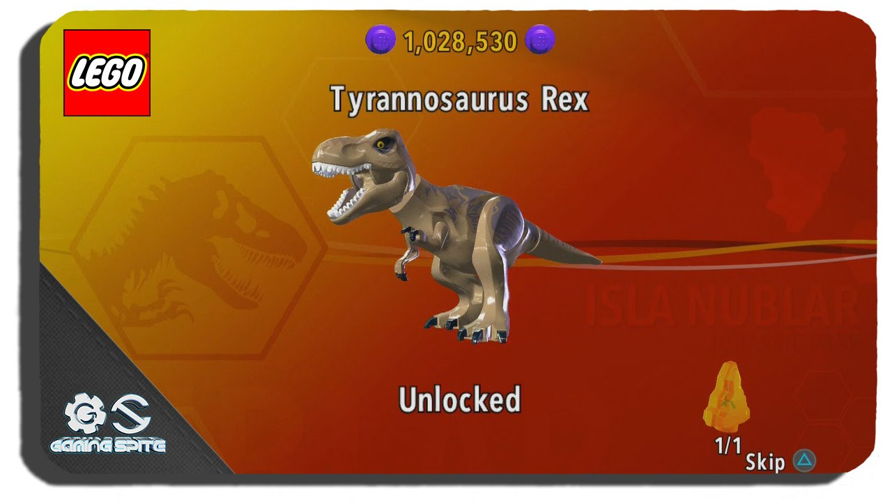 Lego jurassic world how to unlock tyrannosaurus rex for T rex location