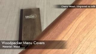 Wooden Menu Covers