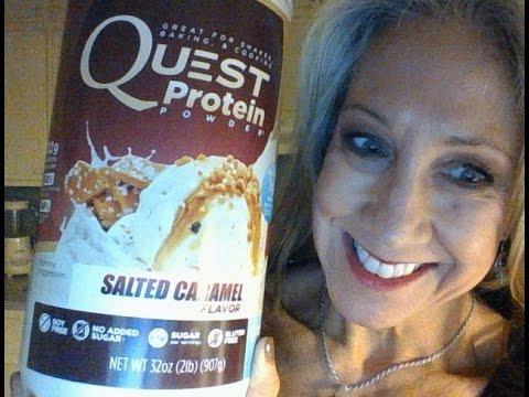 quest-protein-powder-|-salted-caramel-flavor-|-my-favorite!!!