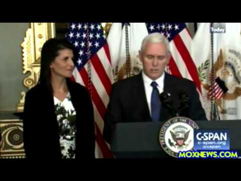 Vice President Mike Pence Swears In Nikki Haley To Be The U.S. Ambassador To The United Nations