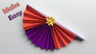 DIY Origami and craft | how to make diy hand fan out of craft papers |Art and Origami craft ideas