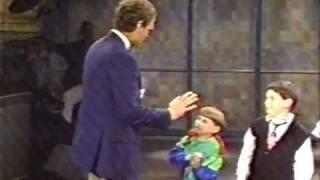 Letterman with joke telling kids