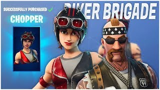 NEW BIKER BRIGADE SKINS!! - CHOPPER GAMEPLAY! (Fortnite Battle Royale Gameplay)