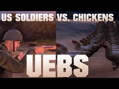 1000 CHICKENS Vs 20 US SOLDIERS - Ultimate Epic Battle Simulator