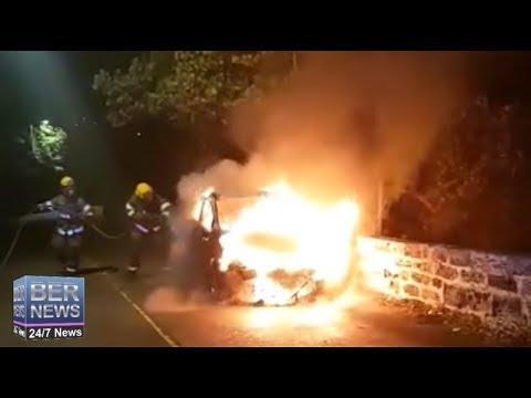 Car Fire On Harbour Road, February 27 2019