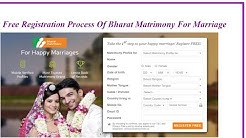 Free Registration Process Of Bharat Matrimony For Marriage