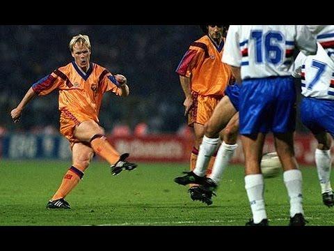 Ronald Koeman All Free Kick Goals ( Ajax,  PSV, Barcelona and Holland )