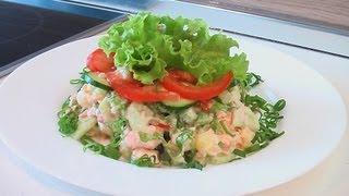 Салат из рыбы с помидорами видео рецепт. Книга о вкусной и здоровой пище(Сайт проекта:http://www.videocooking.ru Приготовлено по рецепту из