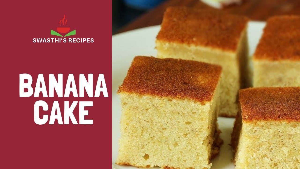 Banana cake recipe how to make easy eggless banana cake recipe