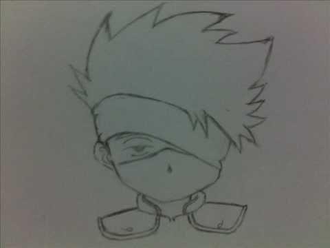 How to draw chibi Kakashi.wmv - YouTube