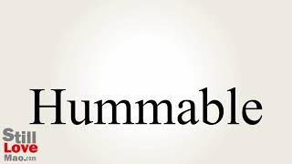 How to Say Hummable in Chinese
