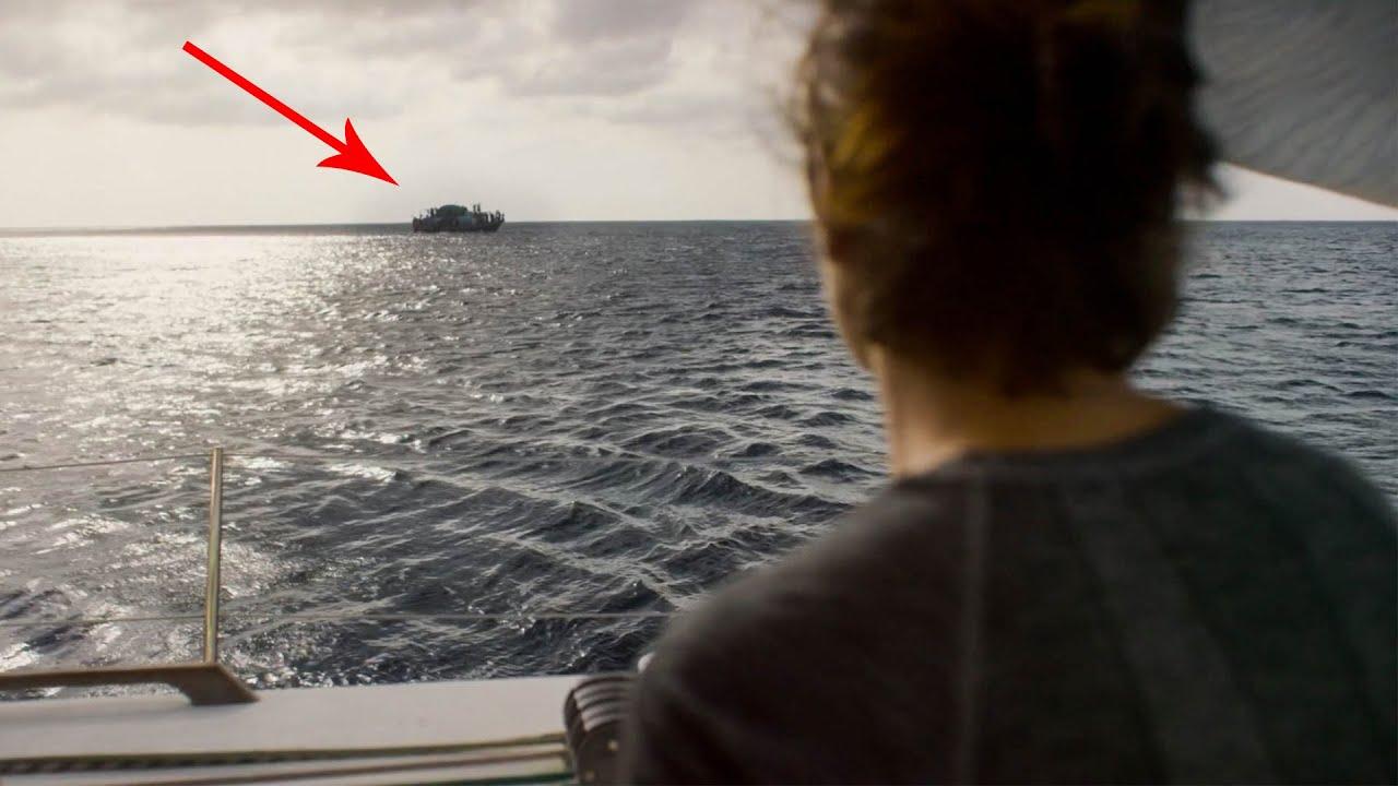 【穷电影】女子在海上发现一艘难船,进入到其中,却被里面的情景给震撼到