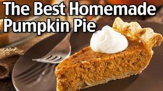 The Best Homemade Pumpkin Pie!