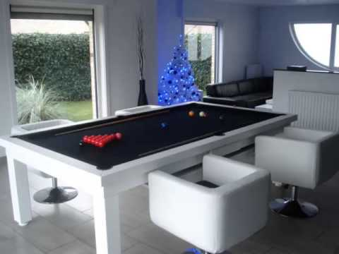 Dining Room Pool Table - YouTube