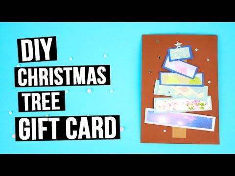 Diy Christmas Tree Gift Card Youtube