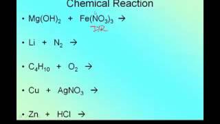 Writing and Balancing Reactions Predicting Products