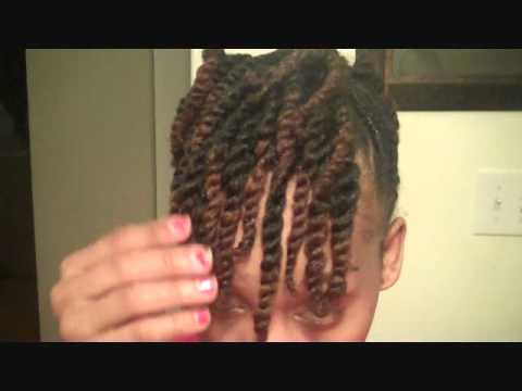 natural hair side twist with two