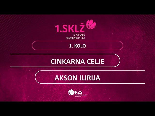 Cinkarna Celje : Akson Ilirija - 1. kolo - 1. Ž SKL - Sezona 2020/21 - 2/2