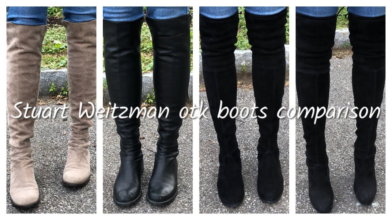 0b74b44fda Stuart Weitzman OTK Boot Comparison | 5050, Lowland, and Highland/Hiline |  Leather vs. Suede